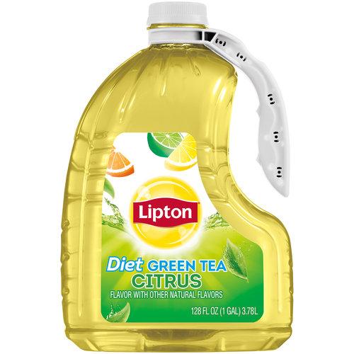 Diet Lipton Citrus Green Tea, 128 fl oz