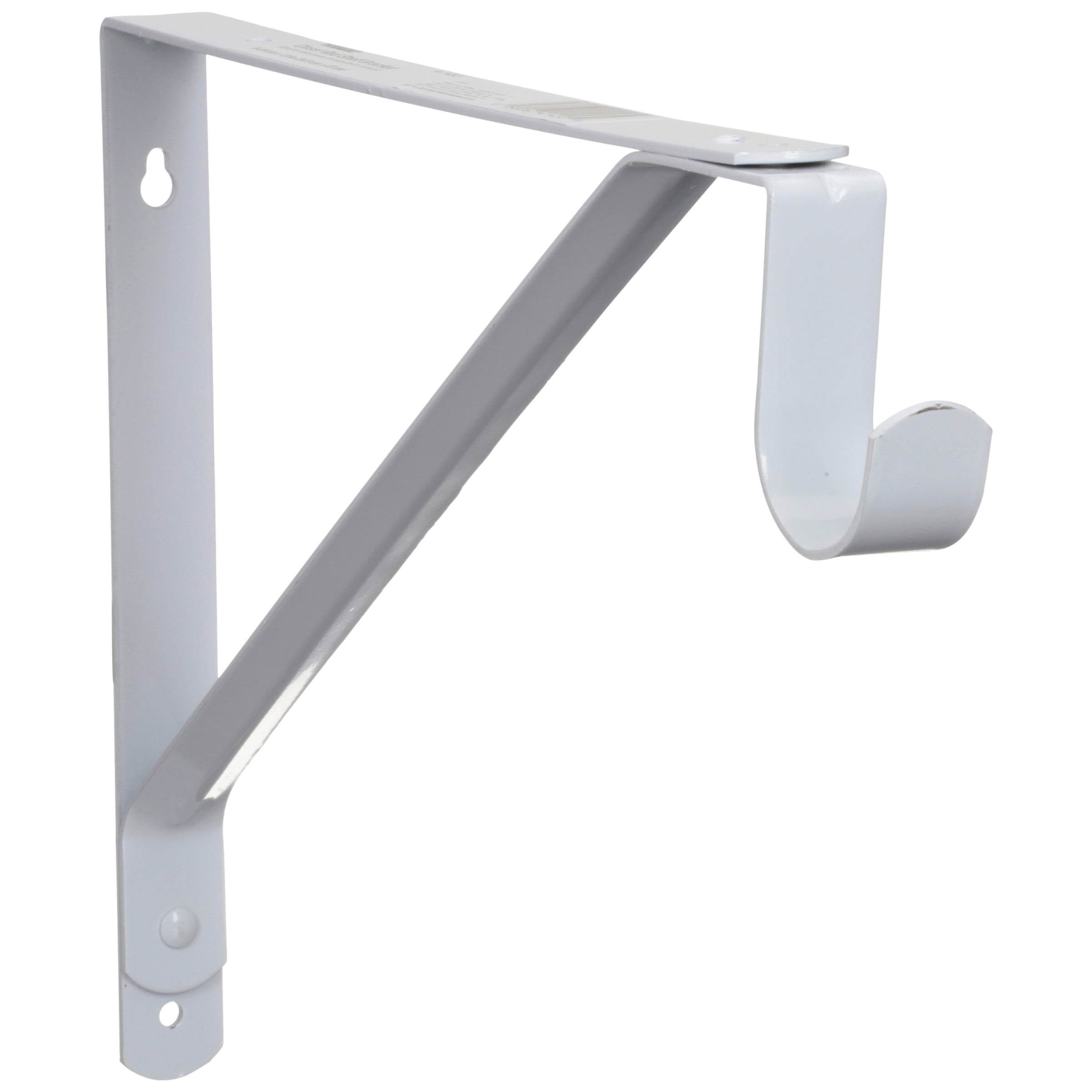 Hyper Tough Heavy Duty Steel 13 In Closet Rod Shelf Bracket White Hardware Included
