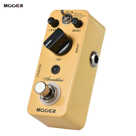 MOOER Acoustikar Acoustic Guitar Simulator Effect Pedal True Bypass with 3 Modes