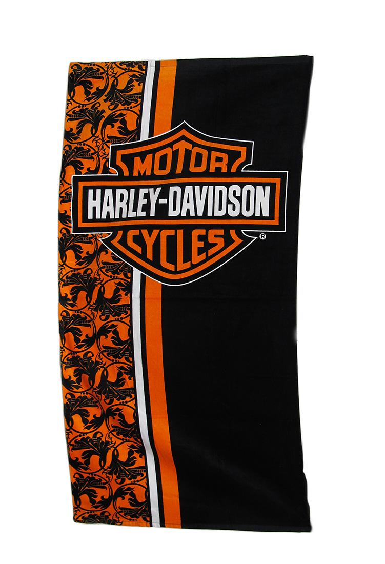 Harley Davidson Racing Stripes Wonder Beach Towel
