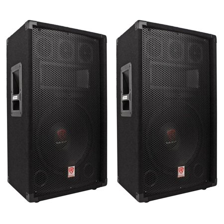 "(2) Rockville RSG12.4 12"" 3-Way 1000 Watt 4-Ohm Passive DJ/Pro Audio PA Speakers ()"