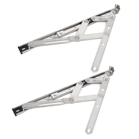 Uxcell 12-inch 202 Stainless Steel Foldable Casement Window Friction Hinge 4 Bar 2pcs - image 5 of 5