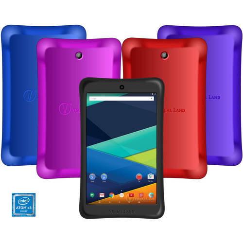 "Visual Land Prestige Elite 8"" IPS Tablet 16GB Intel Atom X3 Quad-Core Android Lollipop with Bumper"