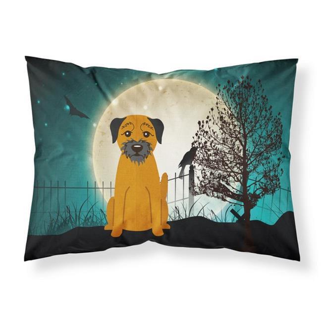 Carolines Treasures BB2229PILLOWCASE Halloween Scary Border Terrier Fabric Standard Pillowcase, 20.5 x 0.25 x 30 in. - image 1 of 1