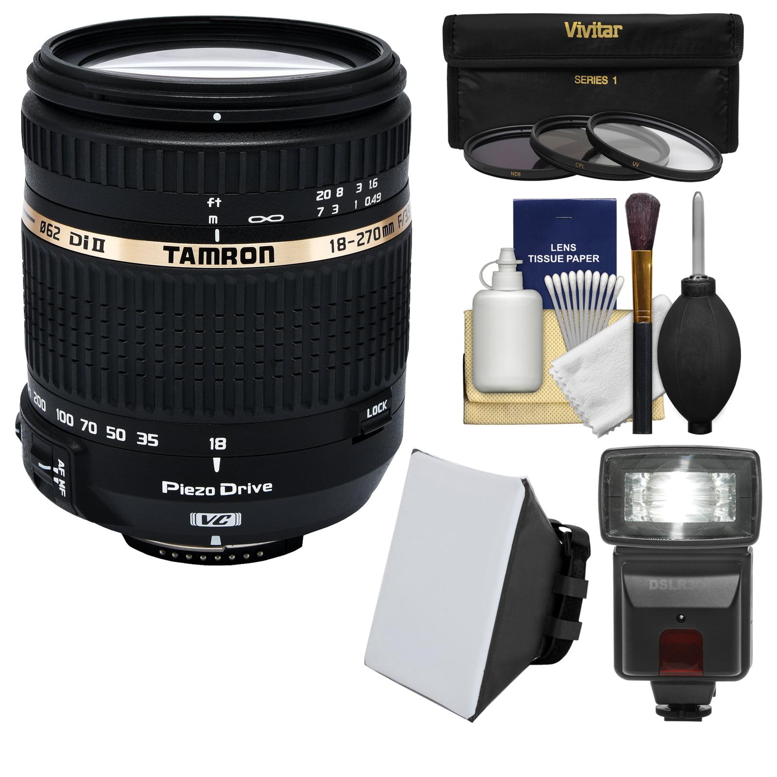 Tamron 18-270mm f/3.5-6.3 Di II VC PZD Macro Zoom Lens (B...