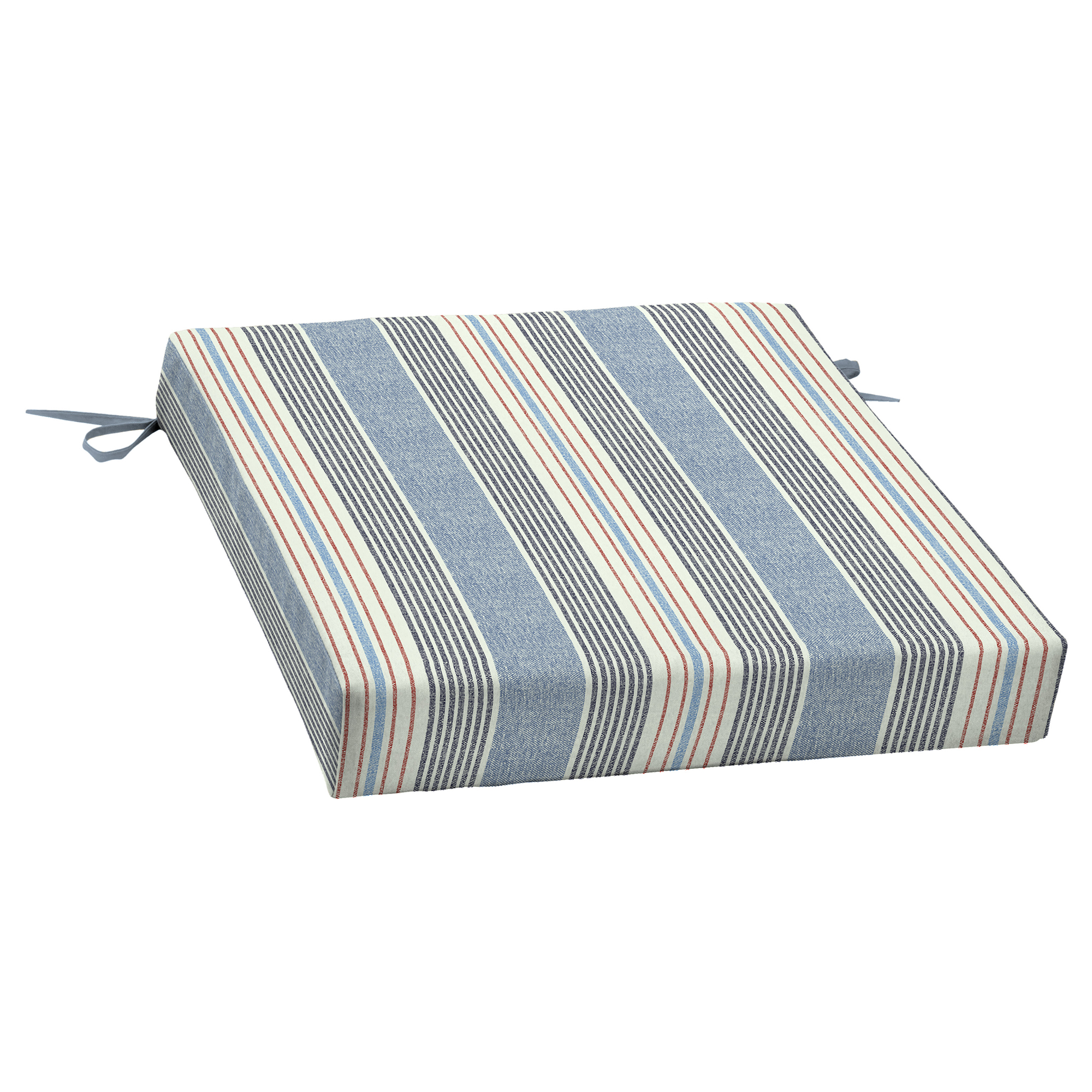Better Homes & Gardens Hickory Stripe 21 x 21 in. Outdoor Dining Seat Cushion with EnviroGuard