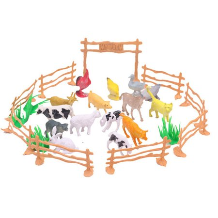 - 15pcs Educational Simulated Farm Animals Model Toy For Kids Children