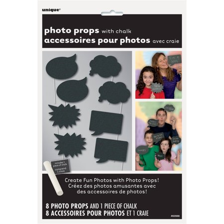 Chalkboard Photo Booth Props, 8pc - Halloween Festival Booth Ideas