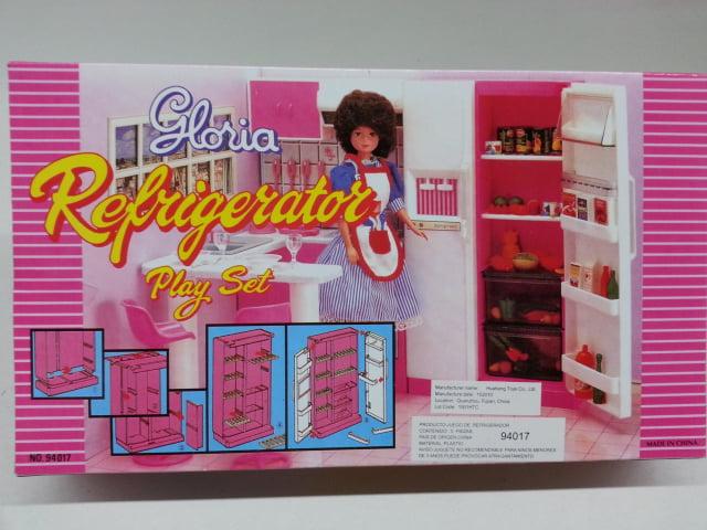 GLORIA DOLL HOUSE FURNITURE  SIZE Fridge Food Accessories SET+Utensil Play Set