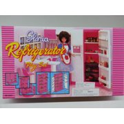 Gloria Refrigerator Play Set for Barbie dolls and Dollhouse furniture
