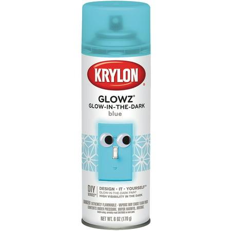 krylon glowz aerosol spray 6 ounce blue multi colored. Black Bedroom Furniture Sets. Home Design Ideas
