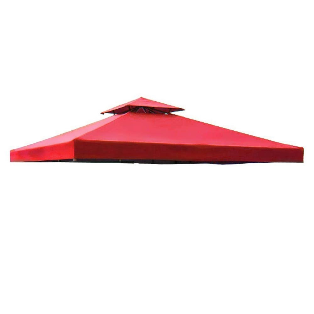Red 2 Tier Patio Sun Shade 12x12 Ft Garden Canopy Gazebo Replacement Top