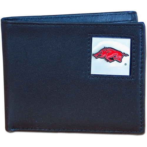 NCAA - Siskiyou - Bi-Fold Leather Wallet -  University of Arkansas Razorbacks