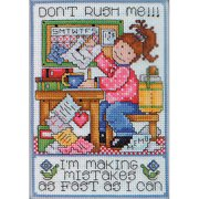 Tobin Counted Cross-Stitch Kit, Don't Rush Me