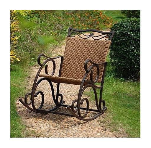 Wicker Resin/Steel Porch Rocker