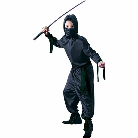 Black Ninja Child Halloween Costume (Black Bandana Halloween Costume)