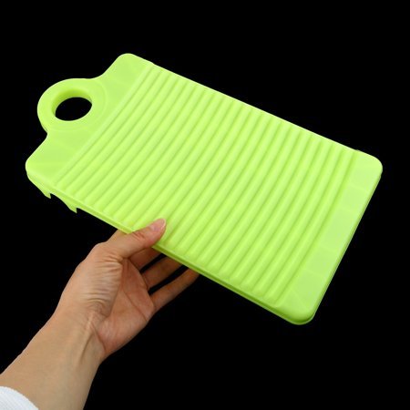 Plastic Rectangle Washboard Clothes Washing Board 315mm Length Light Green - image 3 de 4