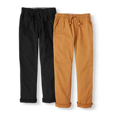 2 Pack Paints (Wonder Nation Boys 6-16 & Husky Pull On Pants,)