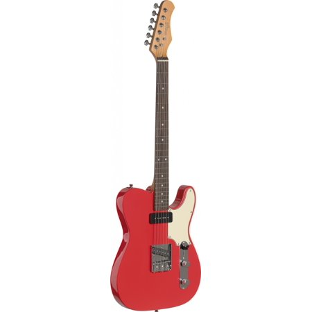 "Stagg SET-CST FRD Vintage ""T"" Series Custom Electric Guitar - Fiesta Red"