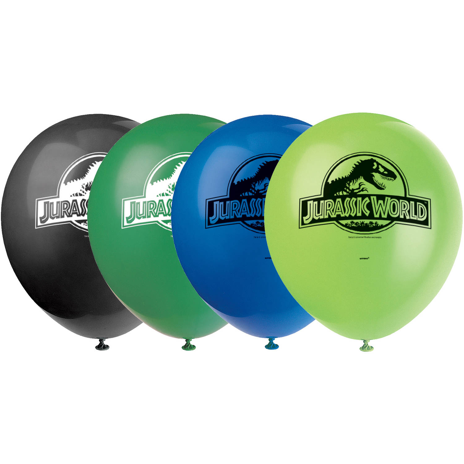 "12"" Latex Jurassic World Balloons, 8ct"