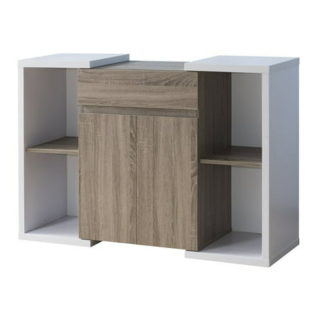 Furniture of America Oliet Modern Buffet in Distressed Taupe White