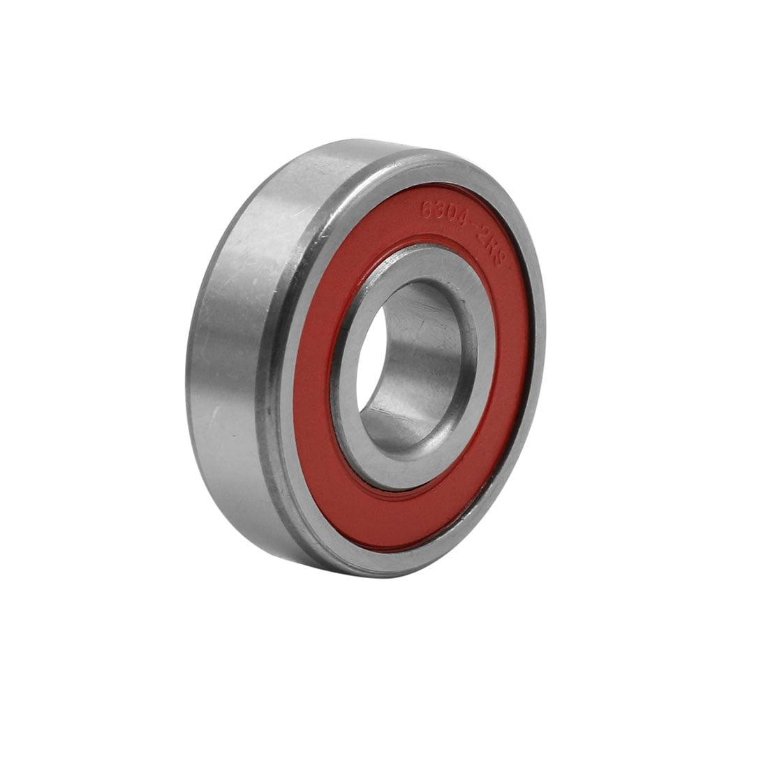 10pcs Universal 6304-2RS Deep Groove Double Shielded Ball Bearing 52 x 20 x 15mm - image 2 de 4