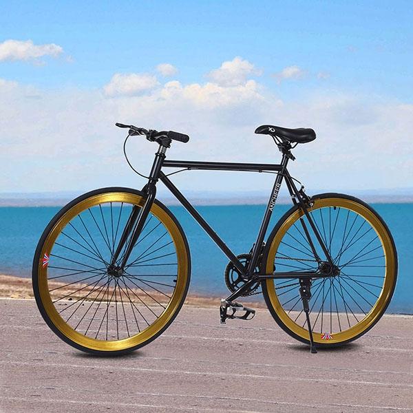 Yellow Fixed Gear Single Speed Fixie Bike Road Bicycle 26...