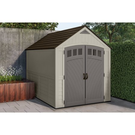 Suncast 481 cu. ft. 7 x 10 Carlisle Resin Outdoor Storage Shed, Vanilla
