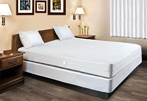 Waterproof Mattress Protector Encasement Hypoallergenic Bed Bugs Proof (Queen Size) by Home Sweet Home Dreams Inc