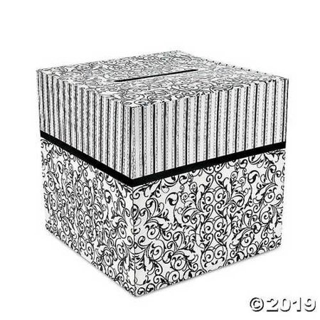 Cardboard Black And White Wedding Card Box](Card Boxes For Wedding)