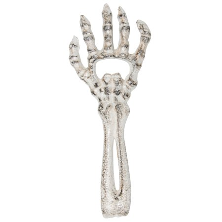 Halloween 4 Cast (Cast Wrought Iron Skeleton Arm Hand Bottle Drink Opener Halloween Prop)