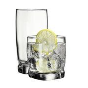 Libbey Carrington Mocha Glass Set, 16 Piece