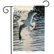 "Seagull Summer Garden Flag Sun Shore Ocean Nautical Beach 12.5"" x 18"""