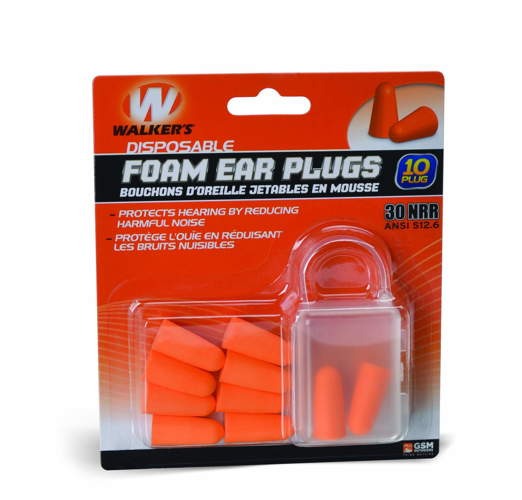Walker's Game Ear Gwp-fp5pk Foam Ear Plugs, 5 Pk