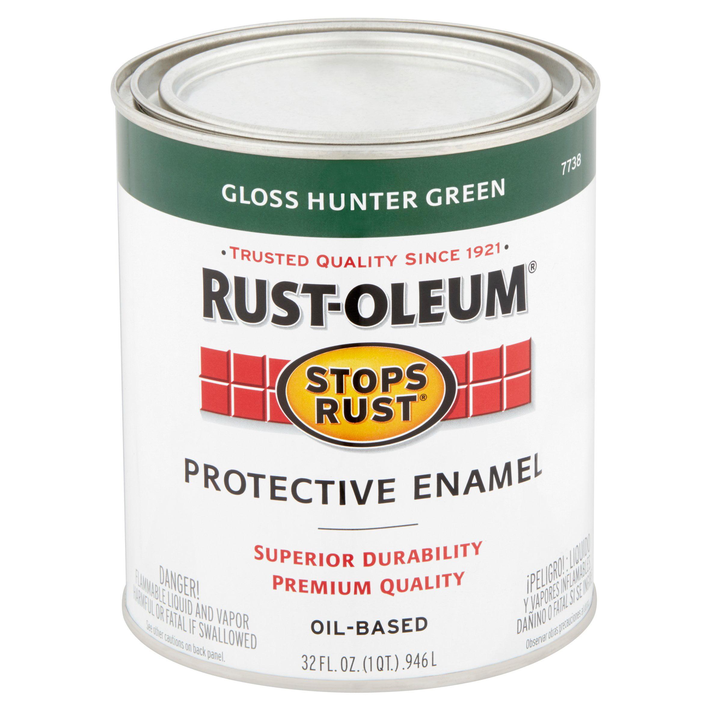 Rust Oleum Stops Rust Gloss Hunter Green Oil Based