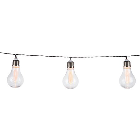 Classic, Battery-Operated Edison Bulb Patio Light Set with Timer Feature