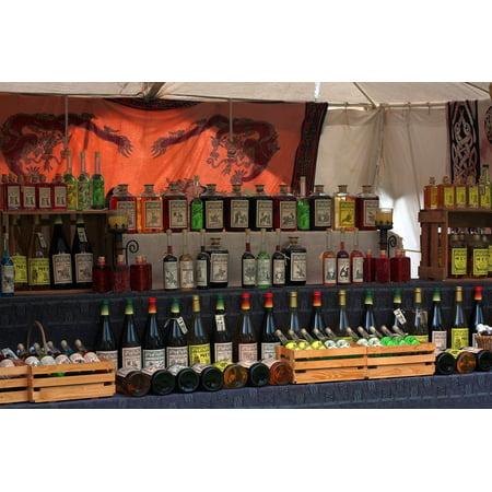 LAMINATED POSTER Wine Stand Castle Liqueur Middle Ages Wines Market Poster Print 24 x (Aged Liqueur)