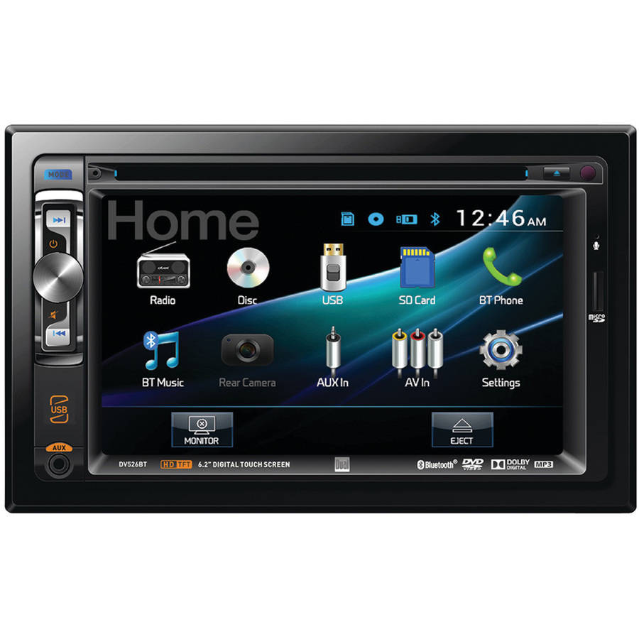 """Dual Electronics DV526BT 6.2"""" Double-DIN In-Dash DVD Receiver with Built-in Bluetooth"""