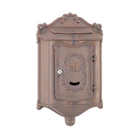 Image of Colonial Wallmount Mailbox w 6.5 in. Mail Flap