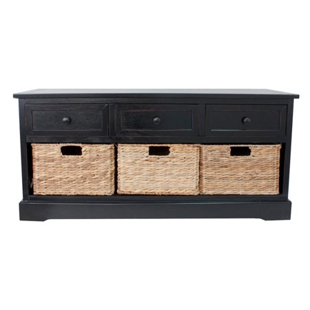 Montgomery Basket Storage Bench, Multiple Finishes (4 Branches Of Government)