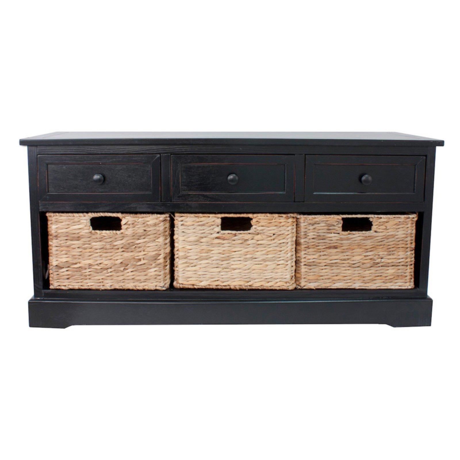 Montgomery Basket Storage Bench, Multiple Finishes