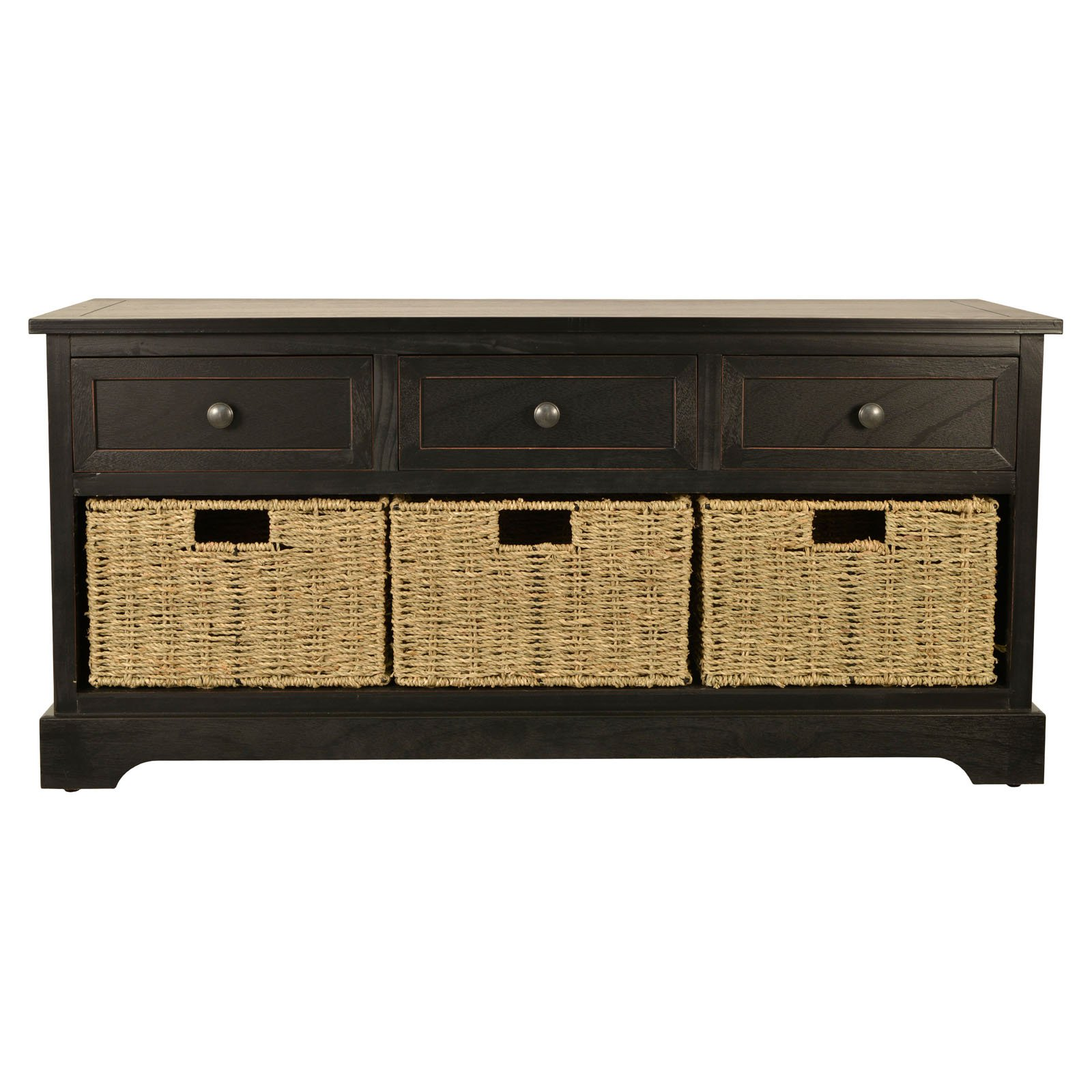 Montgomery Basket Storage Bench, Multiple Finishes