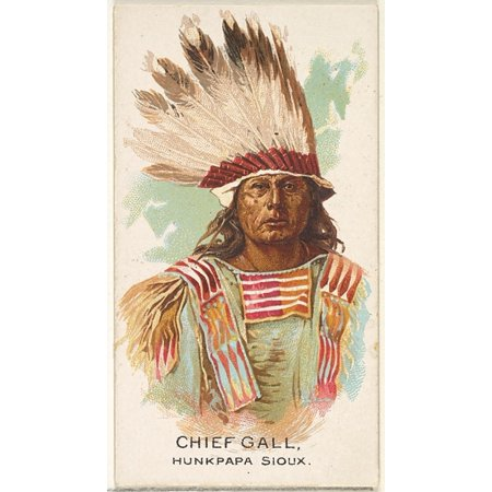 Chief Gall Hunkpapa Sioux from the American Indian Chiefs series (N2) for Allen & Ginter Cigarettes Brands Poster Print (18 x
