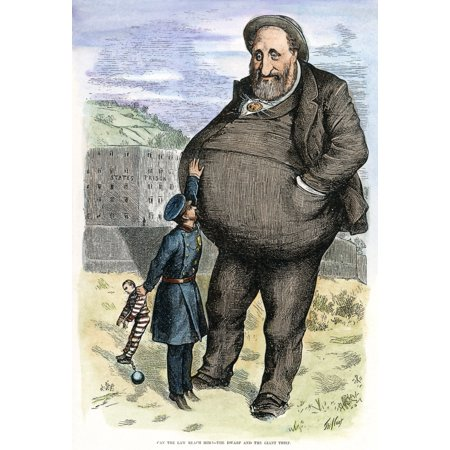 Stretched Canvas Art - Cartoon: Tweed, 1872. /Namerican Cartoon By Thomas Nast On The Power Of Tammany Leader William M. 'Boss' Tweed. Cartoon, 1872. - Large 24 x 36 inch Wall Art Decor Size.