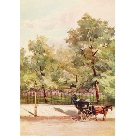 Peeps at Great Cities London 1911 Green Park Piccadilly Canvas Art - Rose Barton (18 x 24)](Pink Peeps)