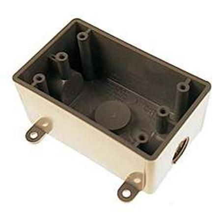 Carlon E381DR Switch Box, Rectangular, PVC, Gray ()