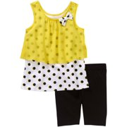 Baby Toddler Girls' Fashion Tank and Shorts Outfit Set