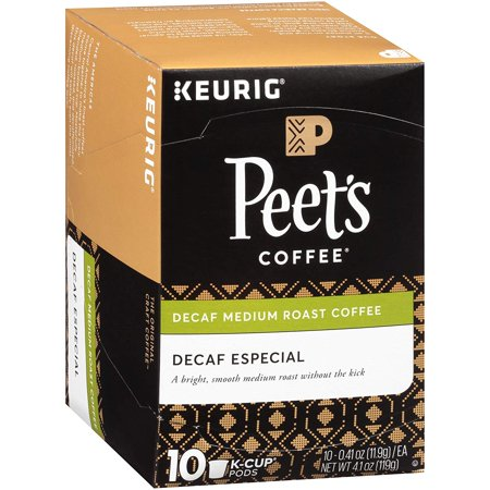Peet's Coffee And Tea Company United States Decaffeinated Especial Medium Roast Coffee K Cup Pack, Case Of 10 Counts Decaffeinated Espresso Pods Case
