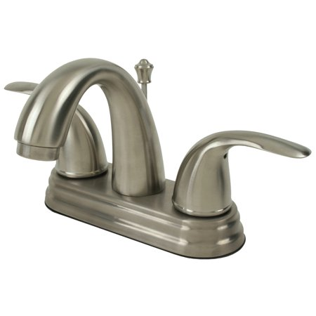 Ultra Faucets UF45013 2-Handle Brushed Nickel Lavatory Faucet with Pop-Up Drain