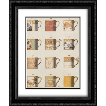 Teacups I 2x Matted 20x24 Black Ornate Framed Art Print by PI Studio